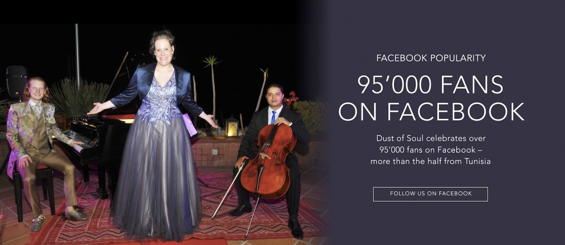 Dust of Soul celebrates over 95'000 fans on Facebook – more than half of them are from Tunisia
