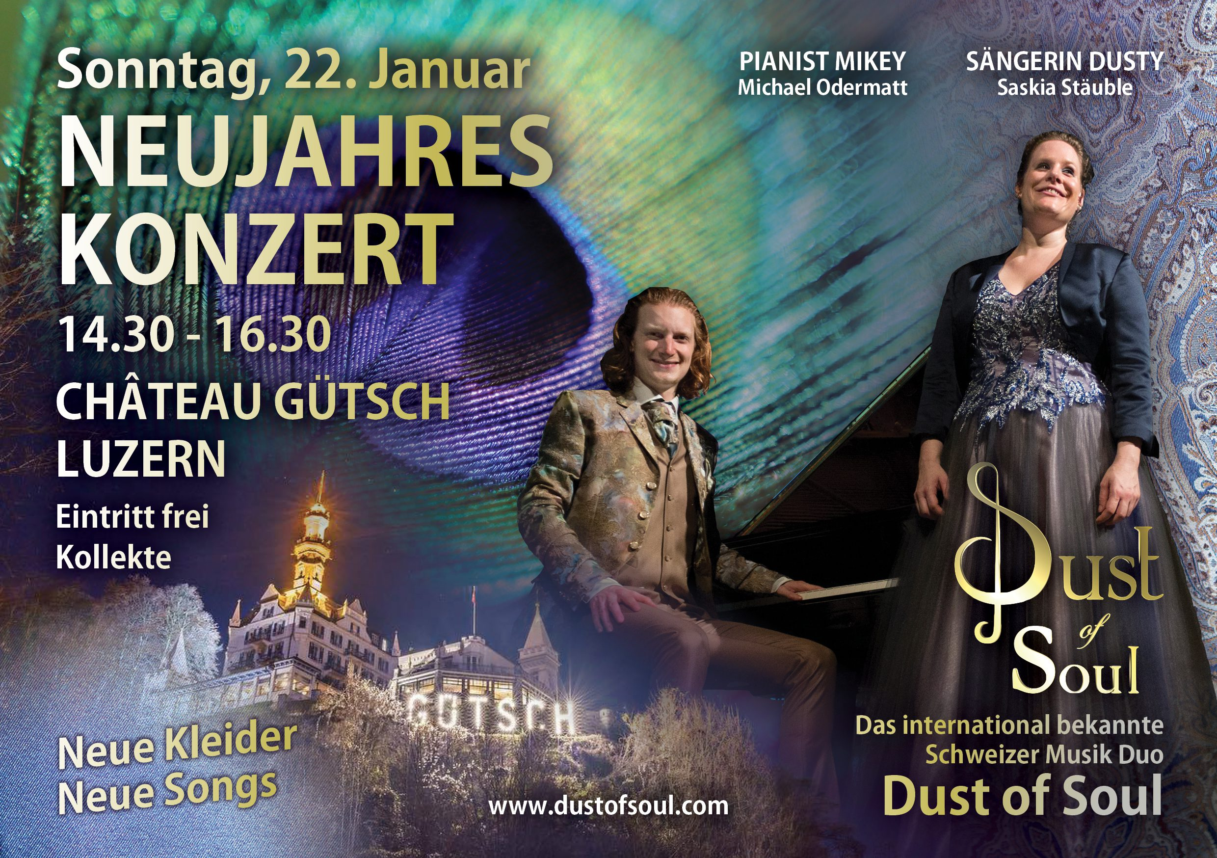 Dust of Soul New Year's Concert a Château Gütsch Luzern as of 22 January 2017