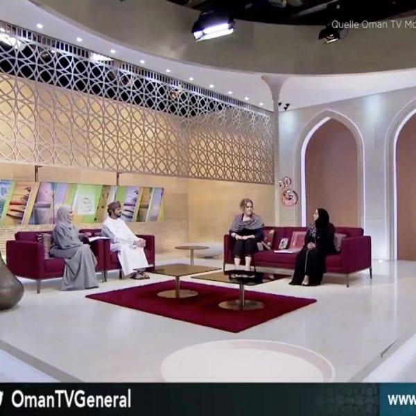 Erste Schweizer im Nationalen Fernsehen Oman TV über Schweiz-Oman-Projekt und Kampagne Humanity First