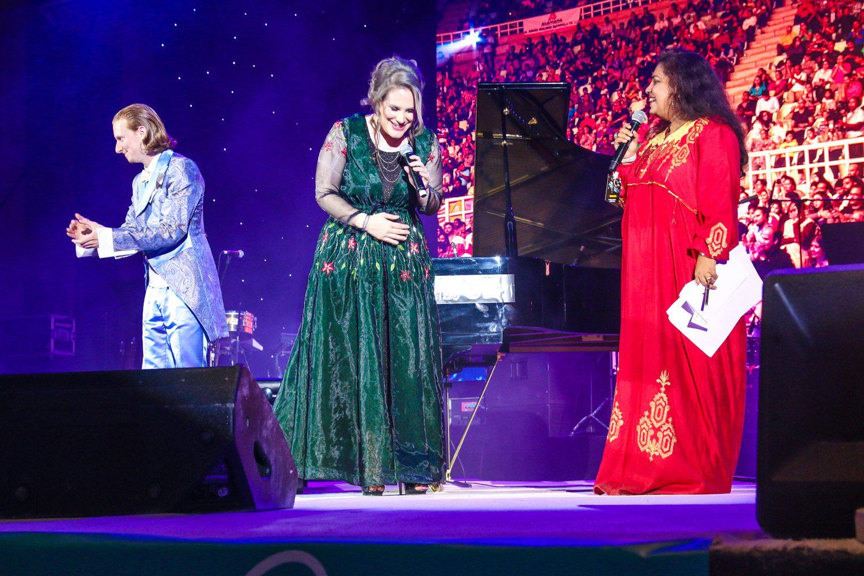 Dust of Soul Ayushmann Khurrana Konzertshow im City Ampitheater Qurum für MTV Indien