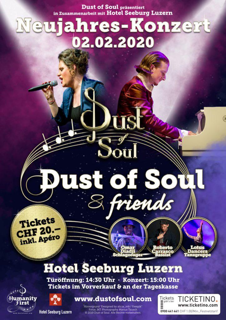 Dust of Soul Neujahres-Konzert Hotel Seeburg Luzern