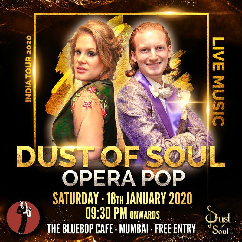 Opera Pop Live Musik-Show im The BlueBop Cafe Mumbai