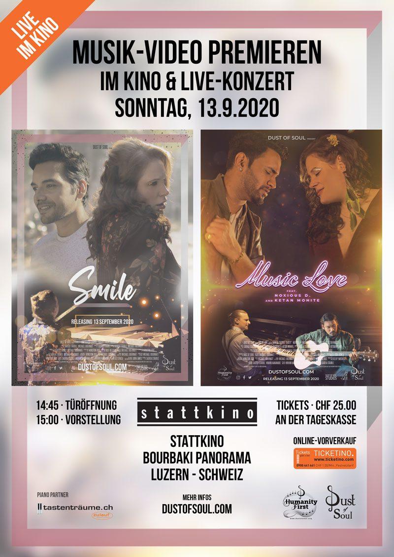 Musik Video Premieren im Kino & Live Konzert