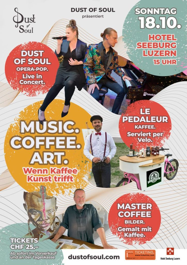 Offizielle Einladung zum Event MUSIC. COFFEE. ART. im Hotel Seeburg Luzern