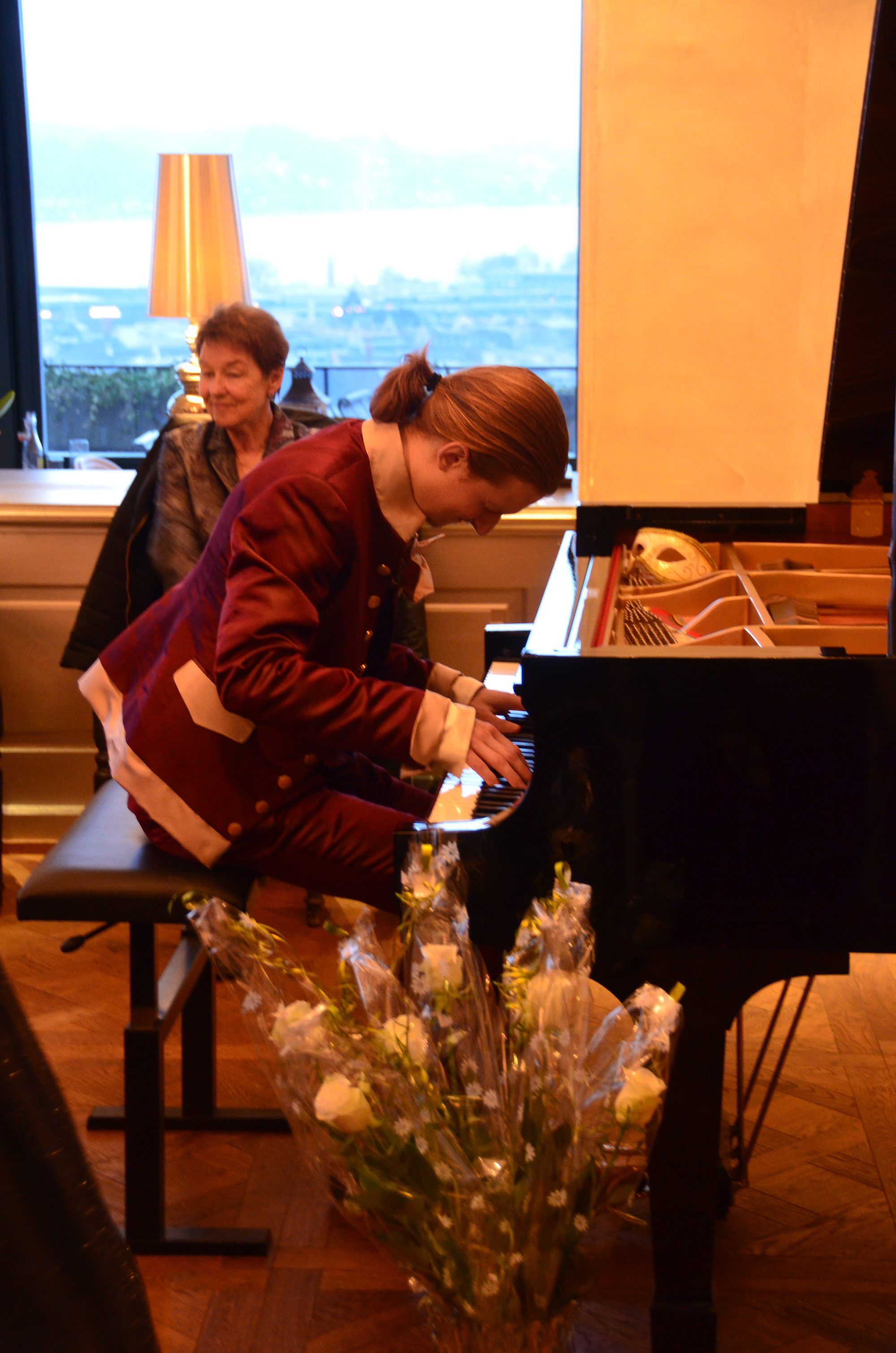 MiKey at the Grand Piano