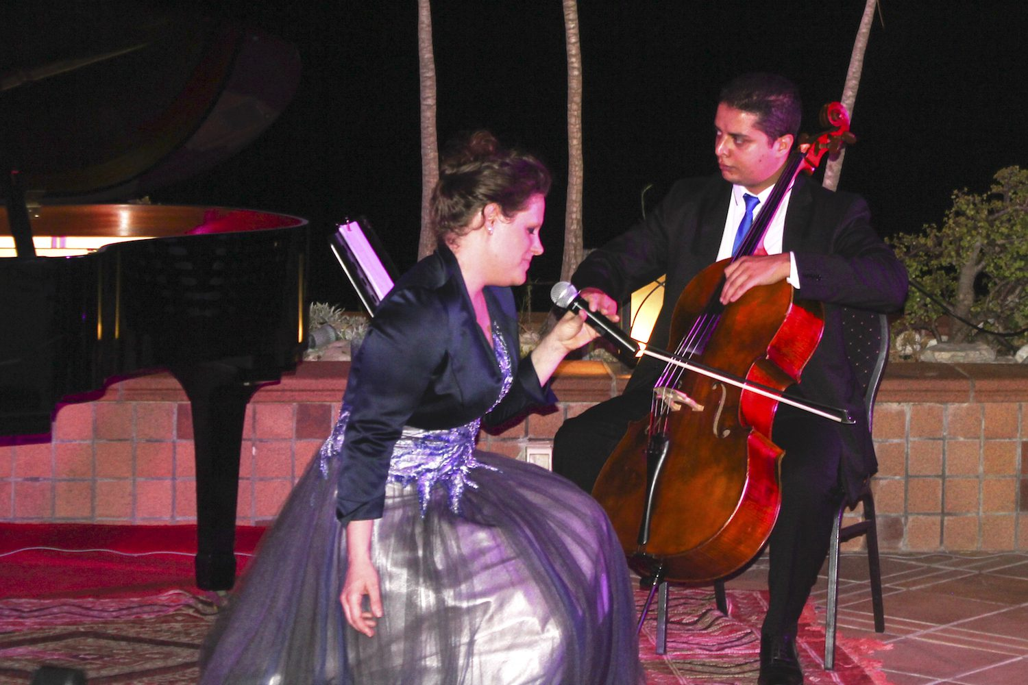 The Tunisian cellist from the Symphony Orchestra Tunis was guest musician at the Peace Concert in Tunis (August 2015)
