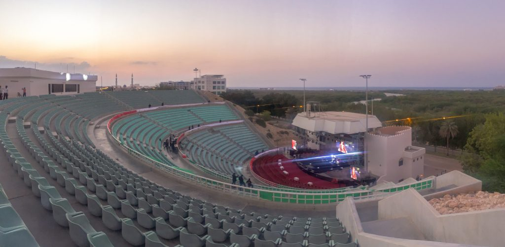 Dust of Soul feat. Lujinia Omani Band at City Amphitheatre Qurum Show in Muscat