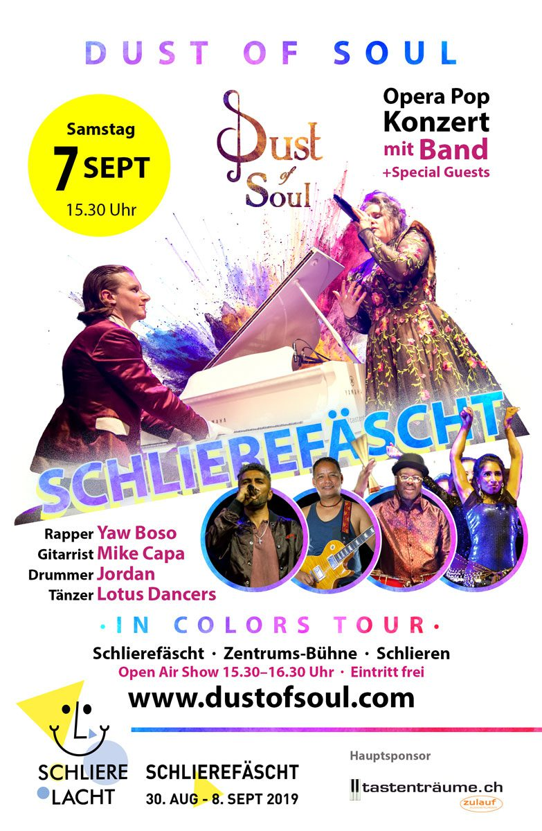 Open Air show on the Zentrumsbühne at Schlierefäscht