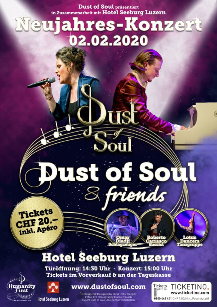 Dust of Soul New Year's Concert Hotel Seeburg Lucerne