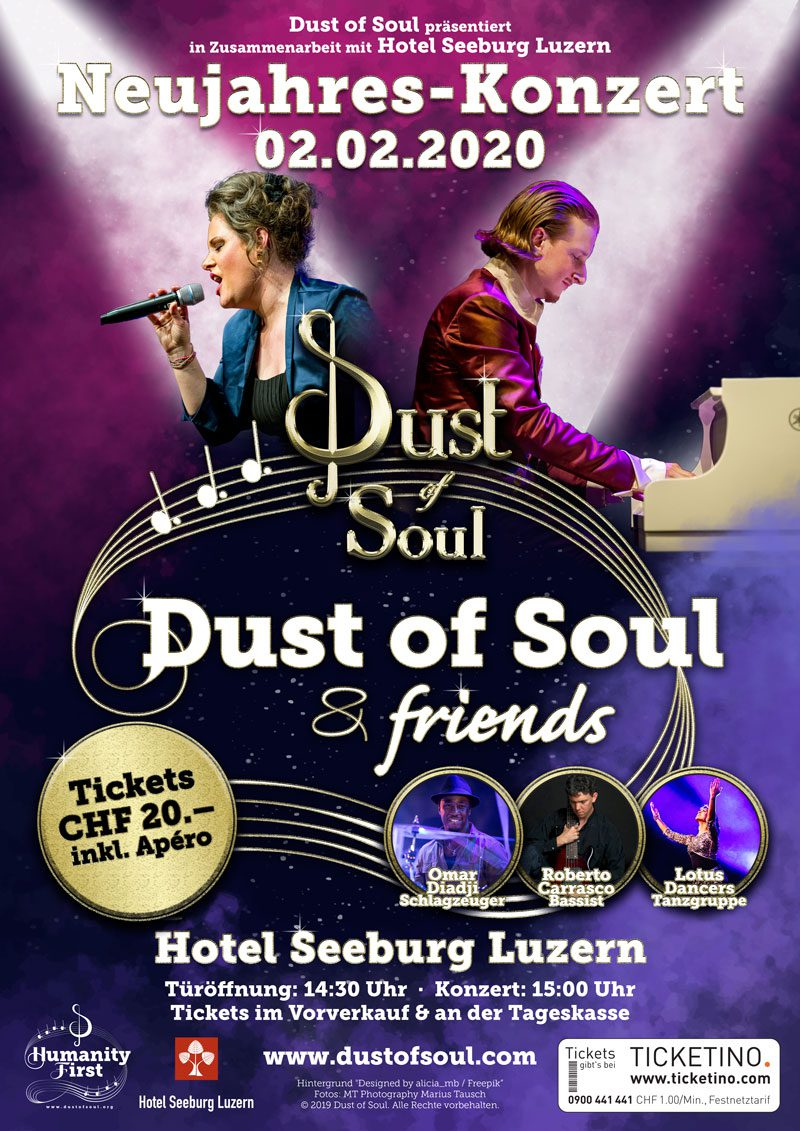 Dust of Soul New Year's Concert at Hotel Seeburg Lucerne