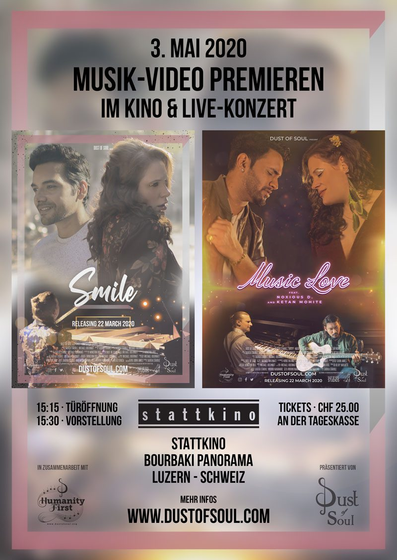 Music video premiere at the cinema & concert